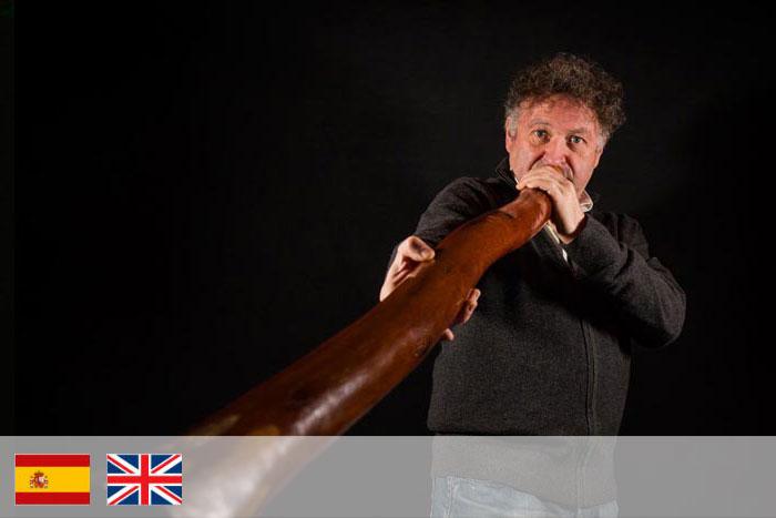Miguel Moreno. Profesor de Didgeridoo
