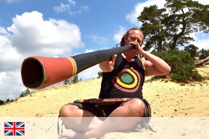 MT yidaki. Profesor de didgeridoo