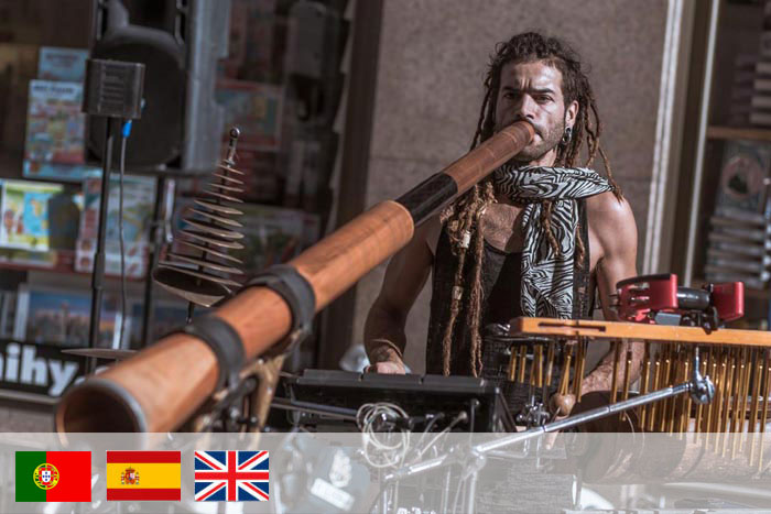 renato Oliveira. profesor de didgeridoo