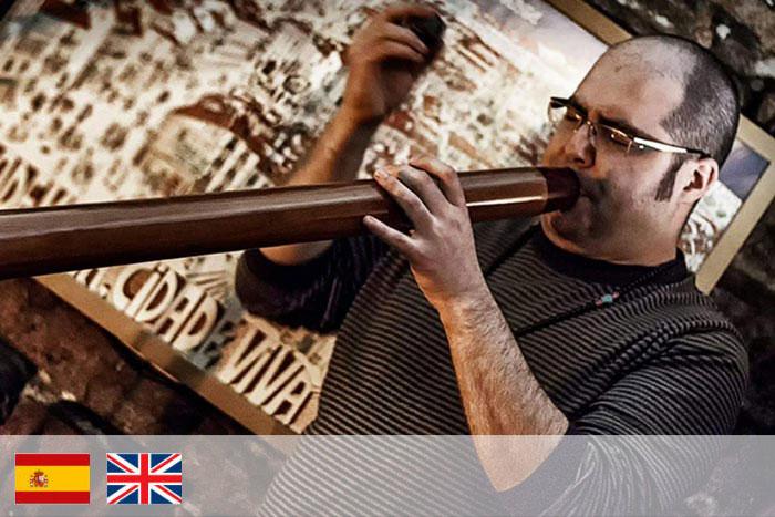 Tomas Carro profesor de didgeridoo